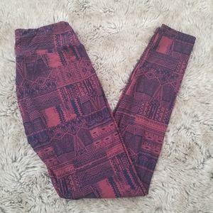 Lularoe Geometric Tribal Patterned Leggings OS